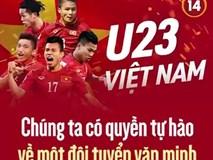 U23 Việt Nam - Chúng ta có quyền tự hào về 1 đội tuyển văn minh của thế hệ mới