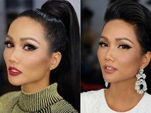 Chẳng ai nhận ra Hoa hậu H'Hen Niê khi cô nối tóc dài và trang điểm đậm nét
