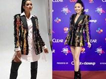 Để tóc dài trang điểm đậm đã không hợp, Hoa hậu H'Hen Niê còn thua Tóc Tiên trong khoản diện đồ khi mặc chung đồ