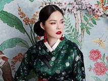 Dương Cẩm Lynh kiêu sa rực rỡ với áo dài cách tân họa tiết nổi bật