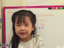 Bé 4 tuổi làm Toán bằng tiếng Anh thành thạo khiến dân mạng phục lăn