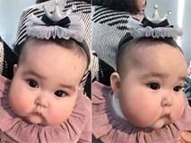 """Bé gái Hà Nội cứ ra phố là mọi người lén chụp ảnh vì đôi má """"bánh bao"""" siêu độc"""
