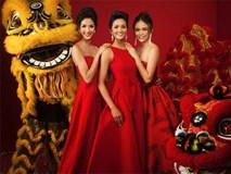 Ngất ngây trước bộ ảnh xuân đầy hương sắc của dàn Hoa hậu, Á hậu Hoàn vũ 2017