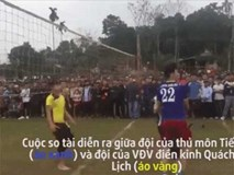 Bùi Tiến Dũng so tài cùng hot boy điền kinh Quách Công Lịch trên sân bóng chuyền
