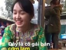 Thiếu nữ bán cơm lam 'đốn tim' với vẻ ngoài trong sáng