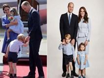 Bí ẩn ít ai biết đằng sau việc Hoàng tử nhí Geogre chỉ nắm tay bố William