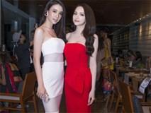 Hương Giang Idol không hề thua kém khi đứng cạnh HH chuyển giới Thái Lan