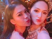 """Diện trang phục dân tộc 55 kg, Hương Giang xuất hiện nổi bật ở vị trí trung tâm trong clip quảng bá của """"Hoa hậu Chuyển giới"""""""