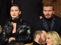 Beckham lịch lãm, ngồi cạnh siêu mẫu Bella Hadid trên khán đài sân Công viên các Hoàng tử