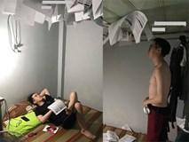 Nam sinh dán sách kín trần nhà để ôn thi khiến dân mạng cười té ghế