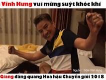 Đàm Vĩnh Hưng khóc khi Hương Giang Idol đăng quang Hoa hậu Chuyển giới Quốc tế 2018