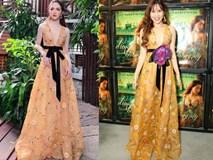 """""""Một chiếc váy hai số phận"""", không tin bạn cứ nhìn hai người đẹp tên Hương Giang này thì thấy ngay"""