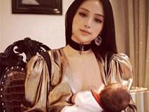 """Khoảnh khắc """"vén váy"""" cho con bú đẹp đến nao lòng của các bà mẹ"""
