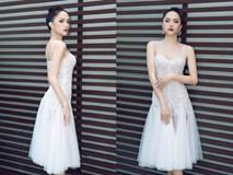Hương Giang mặc đầm trắng xuyên thấu đẹp mong manh, chứng tỏ đẳng cấp hoa hậu