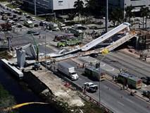 Sập cầu đi bộ 950 tấn mới khai trương ở Mỹ, ít nhất 6 người thiệt mạng