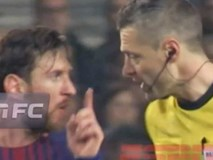 """Messi """"dằn mặt"""" trọng tài vì bị quát tháo"""