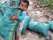 Cậu bé chưa đầy 5 tuổi lao động nặng nhọc phụ giúp gia đình khiến hàng triệu người bật khóc