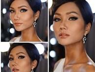 Tóc mái chéo nữ tính là thế, nhưng Hoa hậu H'Hen Niê lại vuốt gel 'nặng nề' khiến nhan sắc giảm đi nhiều phần