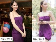 Cả kho đồ hiệu nhưng lại chọn mặc chiếc váy tím lịm của 5 năm trước, Ngọc Trinh bị chê sến và lạc điệu