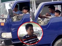 Ông chú ở Thanh Hóa phân trần việc giao tay lái xe tải cho cháu 10 tuổi