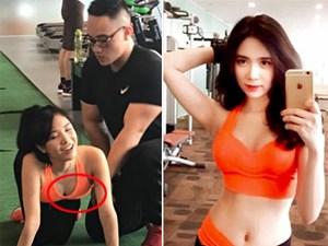 Ảnh gợi cảm của Thanh Bi trong phòng gym