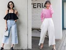 Cất legging và quần jeans đi, 2018 phải mặc quần culottes mới chuẩn!