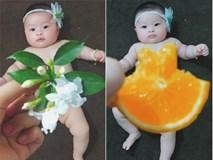 Vô tình khoe ảnh con 4 tháng tạo dáng với rau củ quả, mẹ Thanh Hóa được nghìn người khen