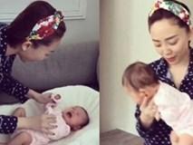 Tóc Tiên khoe tài dỗ trẻ nín khóc trong 30 giây, các mẹ bỉm sữa cũng phải ngưỡng mộ