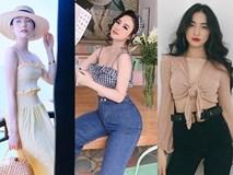 Dàn sao Việt 'giải nóng' bằng crop-top, áo hở ngực trong mùa hè