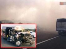 Hiện trường vụ tai nạn liên hoàn trên cao tốc Long Thành - Dầu Giây vì khói rơm rạ mù mịt tấn công