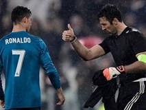 Buffon giơ ngón tay cái, khẳng định Ronaldo là số 1