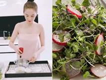 Ngọc Trinh hướng dẫn cách làm món salad rau mầm bổ dưỡng