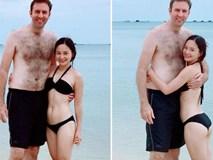 Hình ảnh Lan Phương nhỏ bé nhưng luôn hạnh phúc bên chồng Tây cao 2m