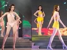 Màn catwalk vụng về như 'đi chợ' của thí sinh Hoa hậu biển Việt Nam toàn cầu gây xôn xao