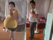Hình ảnh mẹ trẻ 4 năm mổ 3 đứa con, tăng cân vùn vụt đến mất hết cả dáng khiến người xót kẻ chê