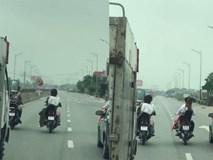 Nhóm thanh niên rước dâu đầu trần, dàn hàng ngang trên quốc lộ gây cản trở giao thông