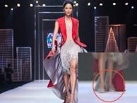 Màn xử lý catwalk đẳng cấp dù giày quá rộng của H' Hen Niê khi còn là một người mẫu