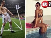 """C.Ronaldo tỏa sáng, bạn gái xinh đẹp cũng được """"thơm lây"""""""