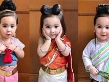 Chỉ mặc trang phục truyền thống, cô bé lai 2 tuổi khiến bao bà mẹ muốn có con gái