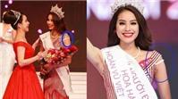 Hoa hậu Phạm Hương lộ quai áo lót khi nhận vương miện?