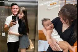 Quang Hải khoe ảnh đưa Huỳnh Anh về nhà chơi, khen người yêu khéo dỗ em bé