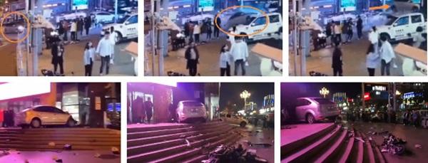Khoảnh khắc kinh hoàng: Nữ tài xế không bằng lái bay thẳng vào toà nhà ven đường, hiện trường tan nát khiến nhiều người hoảng loạn-2