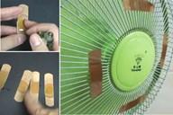 Miếng băng dán vết thương nhỏ nhắn dính vào quạt lại siêu tiết kiệm điện, không chỉ giúp bạn ngủ ngon mà còn có tác dụng đuổi muỗi