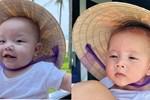 Biểu cảm hài hước của Leon và Lisa khi được mẹ Hồ Ngọc Hà cho đội nón lá