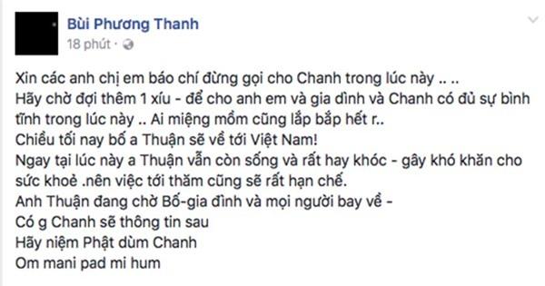Rơi nước mắt khi Minh Thuận viết dòng chữ không rõ nét trong thời khắc sinh tử