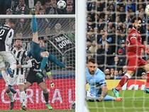 """Lập siêu phẩm """"xe đạp chổng ngược"""", C.Ronaldo vẫn ngậm ngùi xếp sau Salah"""