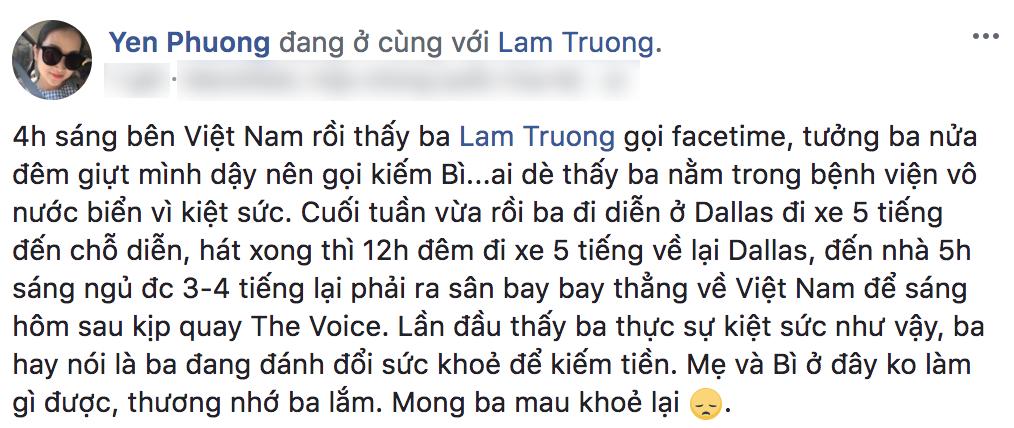 Mải miết làm việc và chạy show, Lam Trường nhập viện vì kiệt sức-1