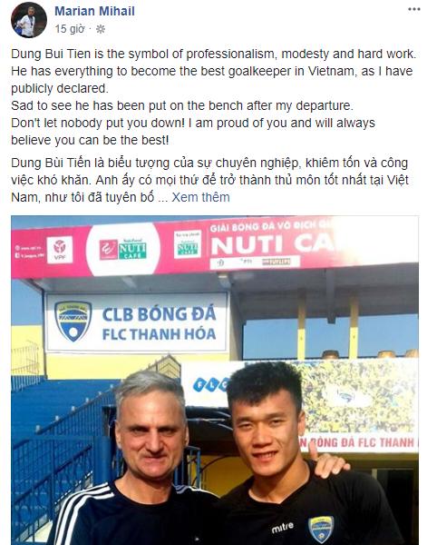 HLV Thanh Hóa vừa mất ghế nhắn nhủ Bùi Tiến Dũng: Cậu sẽ trở thành thủ môn giỏi nhất-2