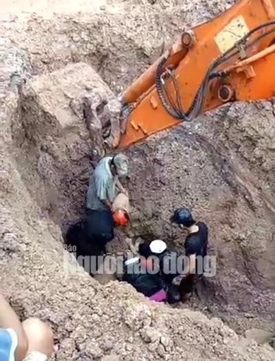 Kỳ tích cứu sống vợ chồng bị chôn sâu hơn 2 m trong gần 1 giờ-1