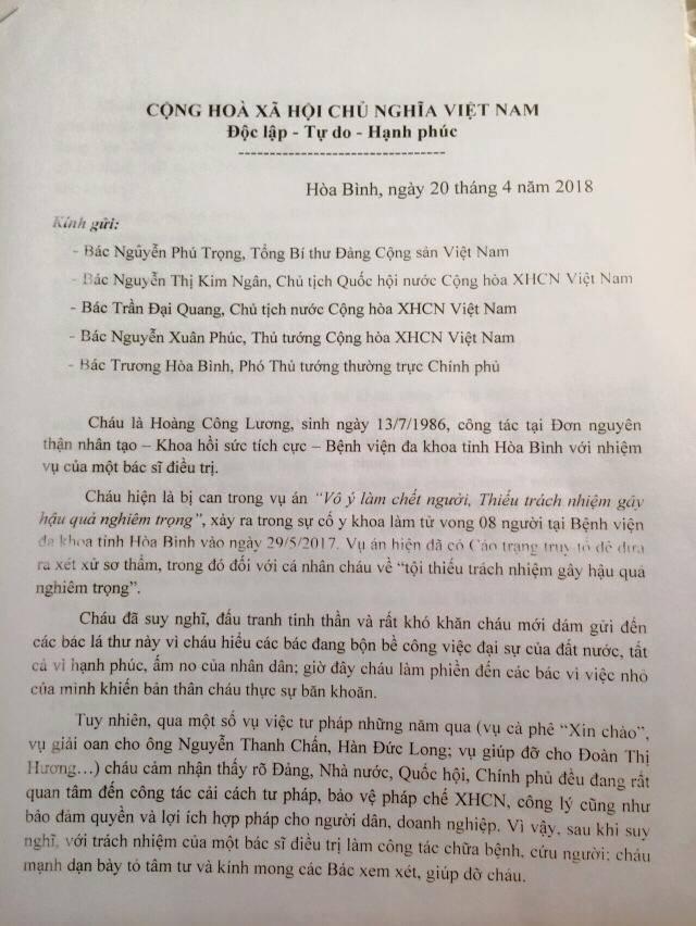 BS Hoàng Công Lương viết tâm thư gửi Tổng bí thư-2